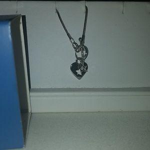 Lia sophia heart and star toggle necklace